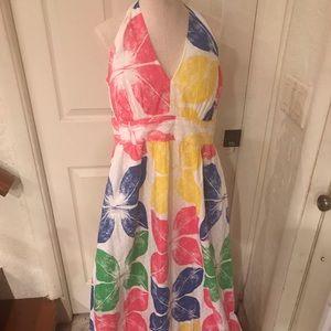 Lilly Pulitzer halter maxi dress